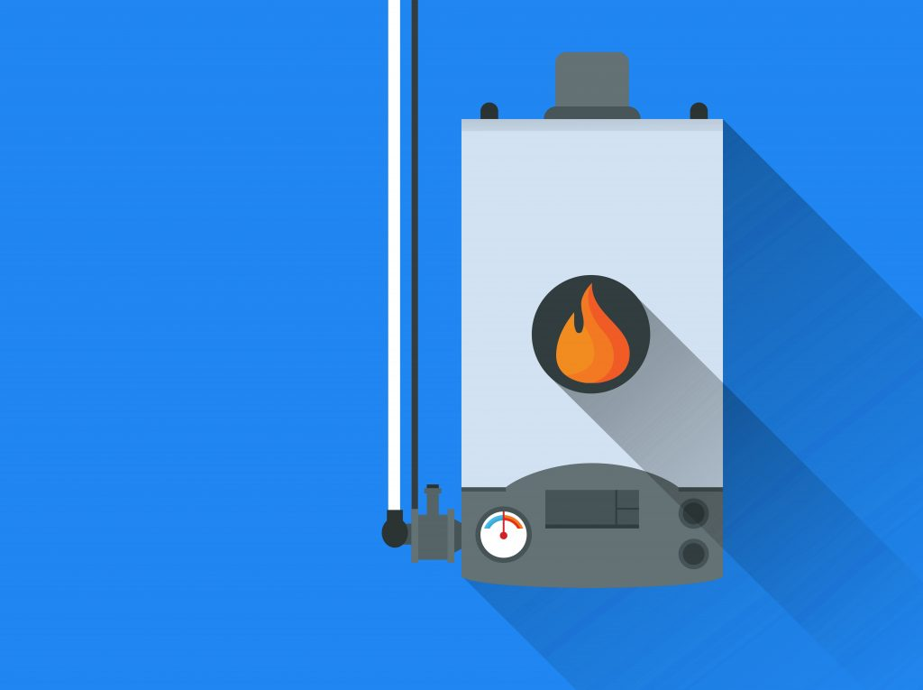 graphic of home gas furnace